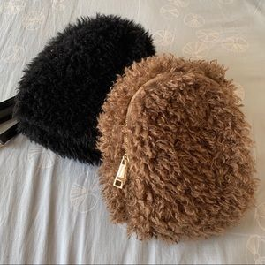 Handbags - Plush Faux Fur Mini Backpack